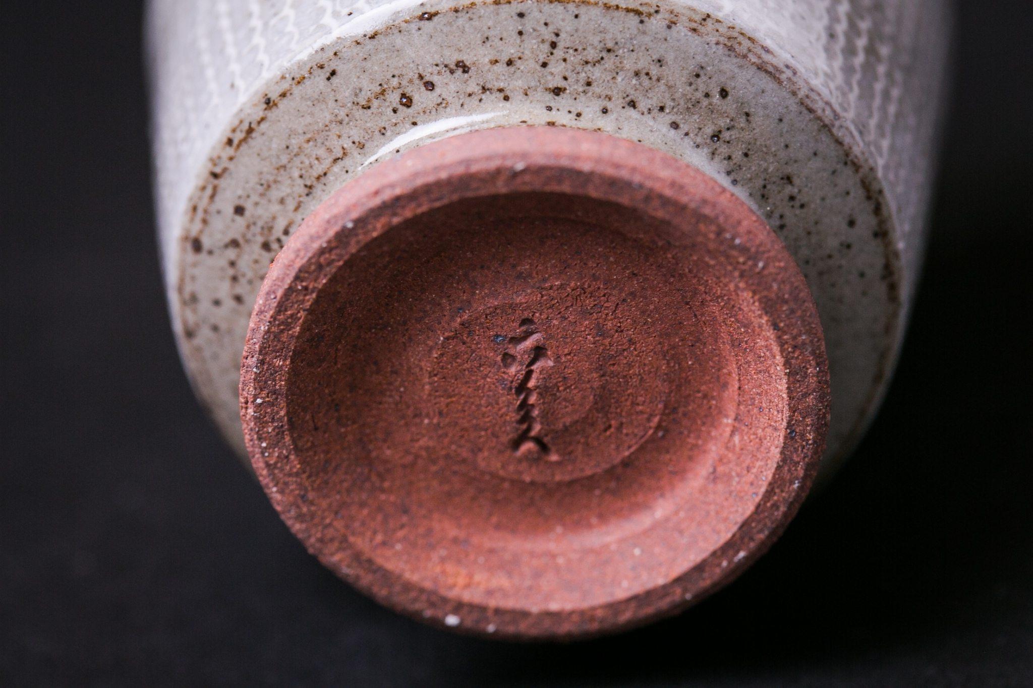 Kyoto Pottery Green Tea Cup | Mishima Pattern-YUNOMI