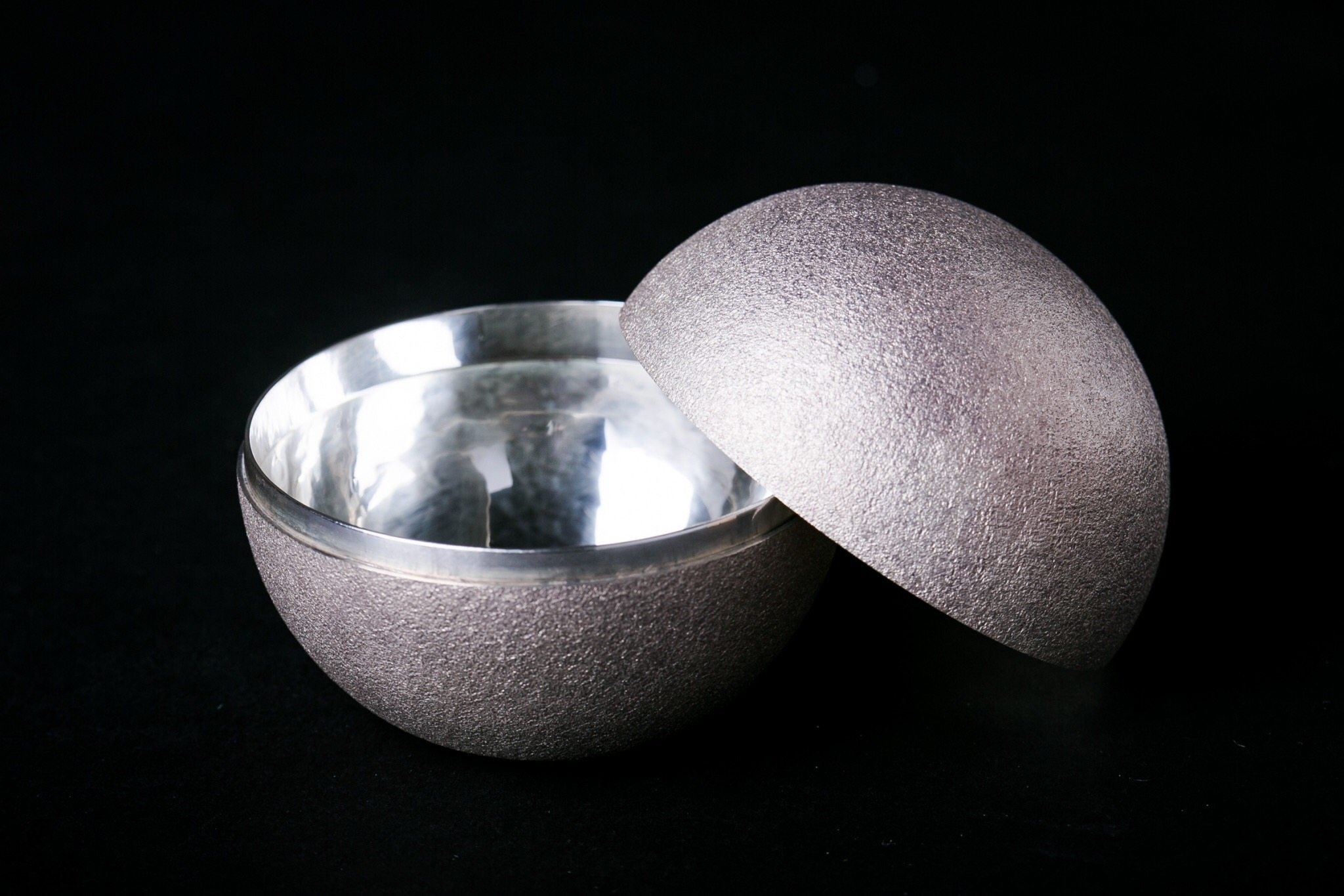 Pure Silver Incense Container | Orb White