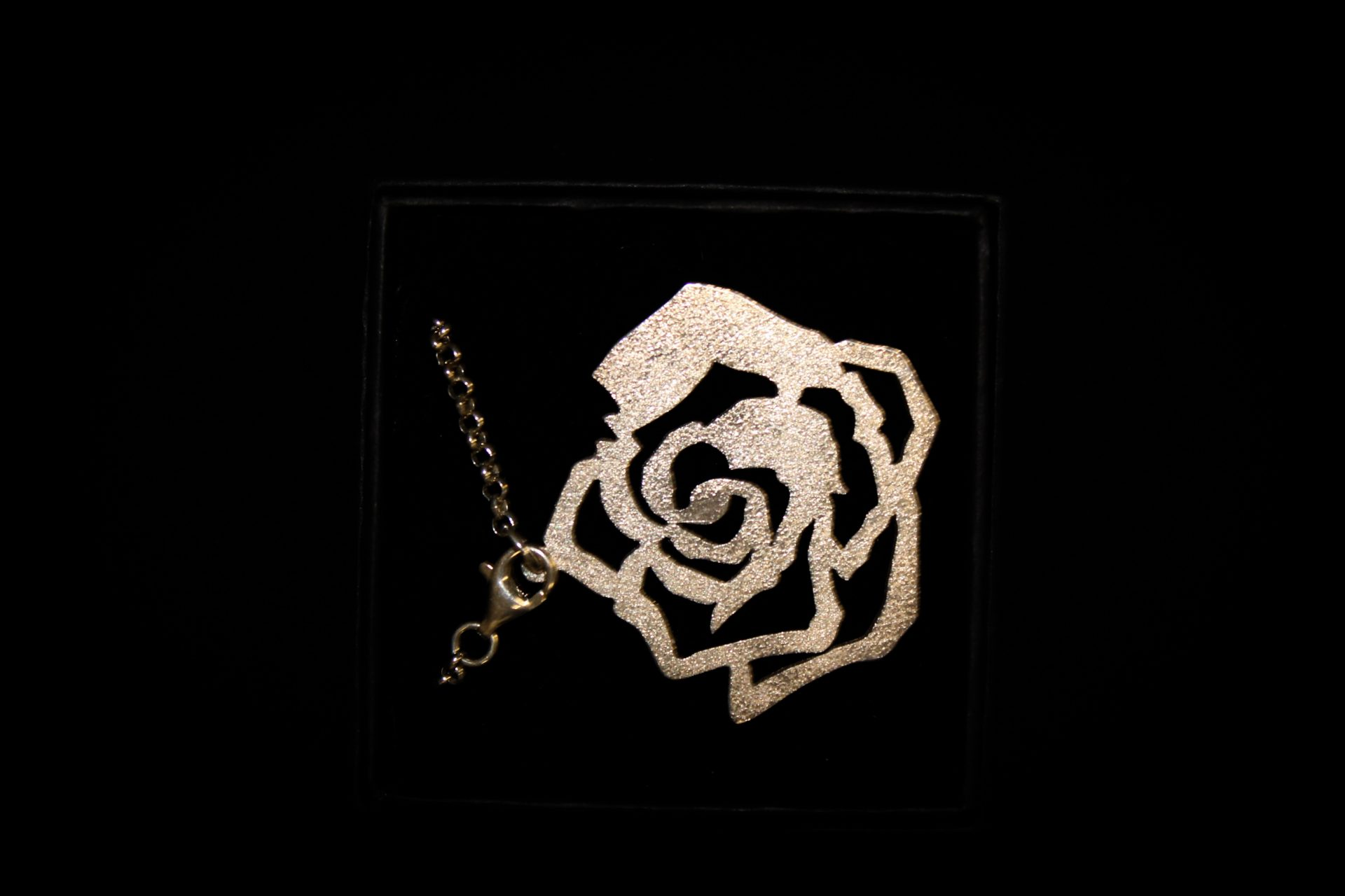 Sterling Silver Forge Necklace | Rose Charm