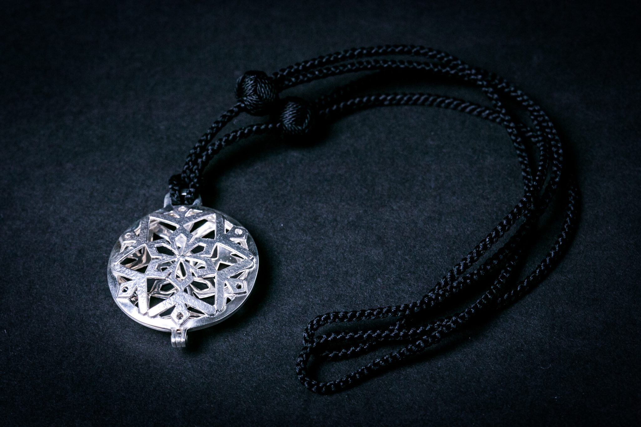 Sterling Silver Forge Large Pendant |  Snowflake Motif