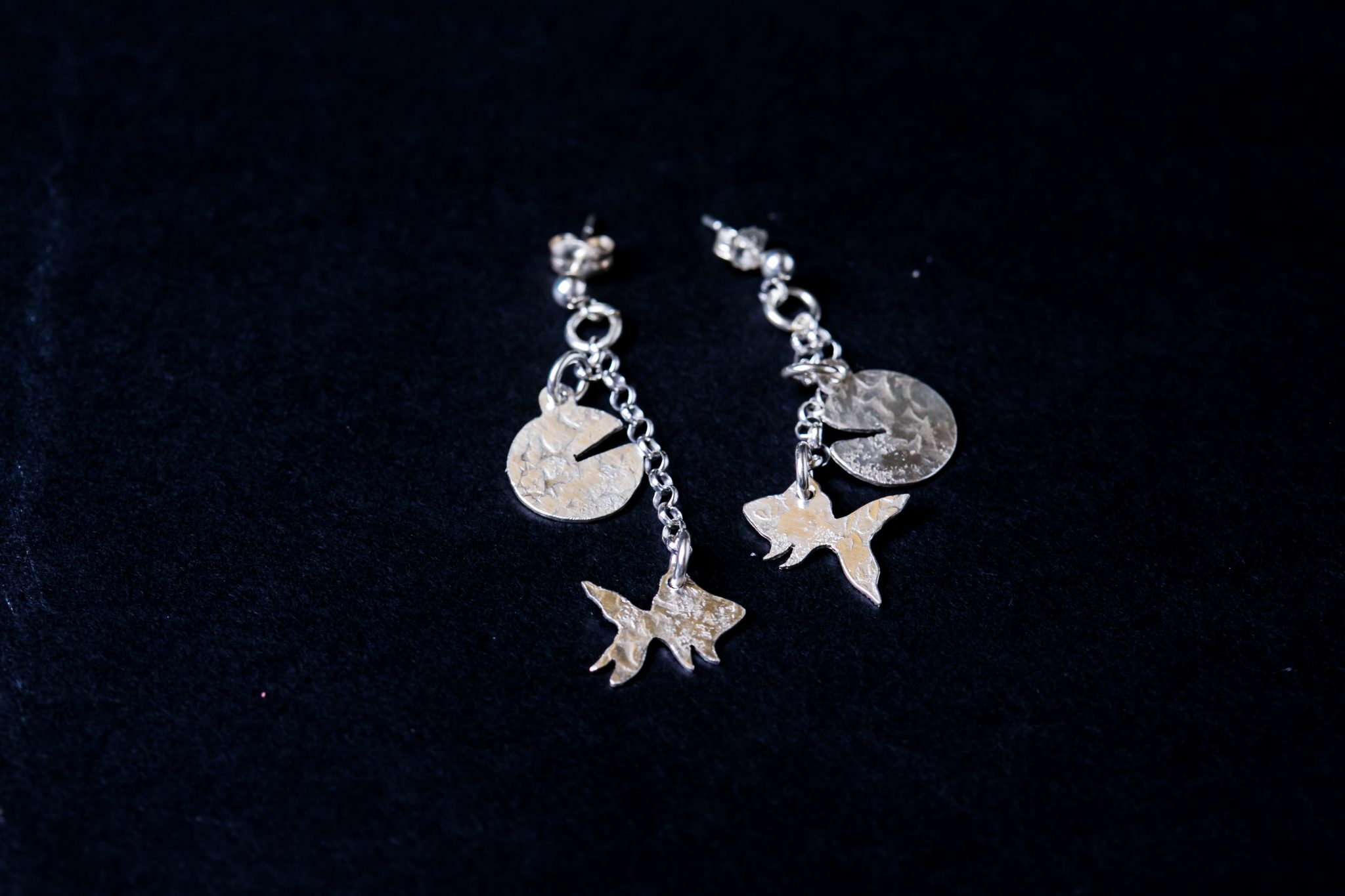 Sterling Silver Forge Earrings | Goldfish