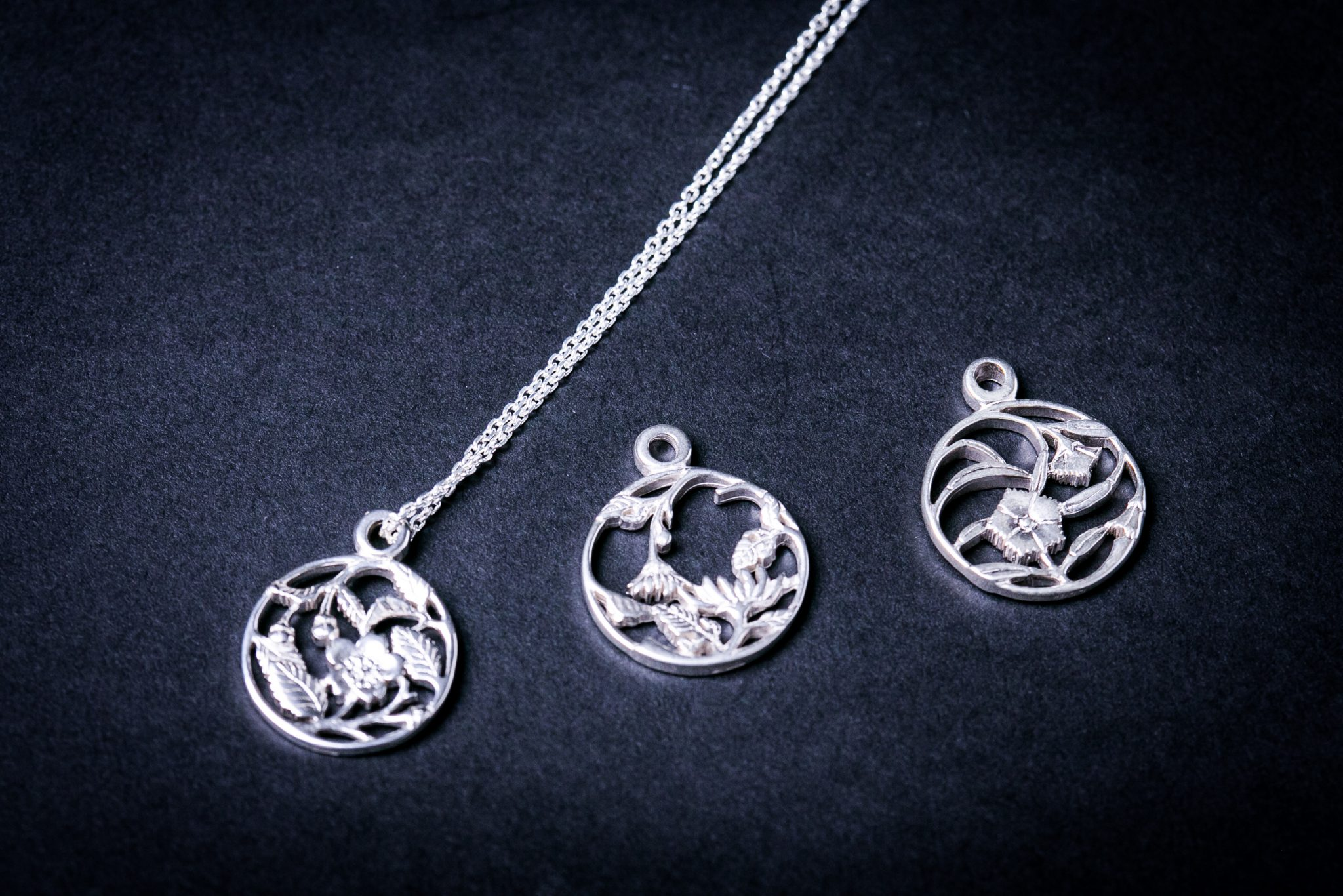 Sterling Silver Forge Necklace | Cherry Blossom