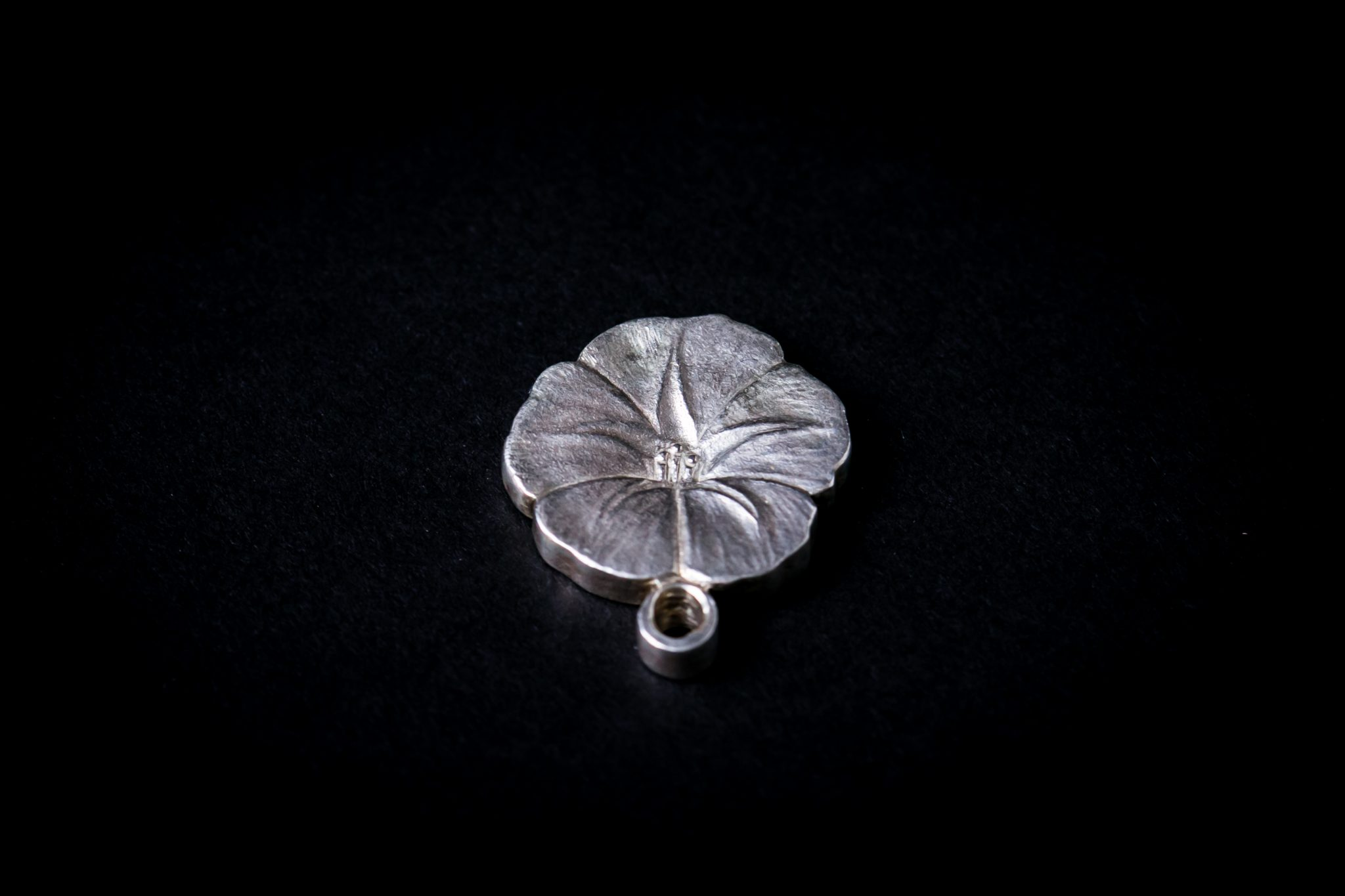 Sterling Silver Forge Incense Stand | Moon Flower